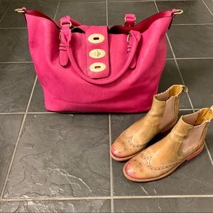 Charming Charlie oversized pink purse